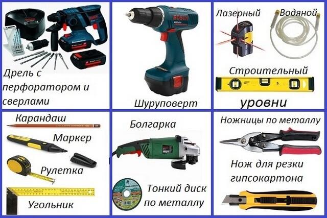 Инструменты для установки перегородок