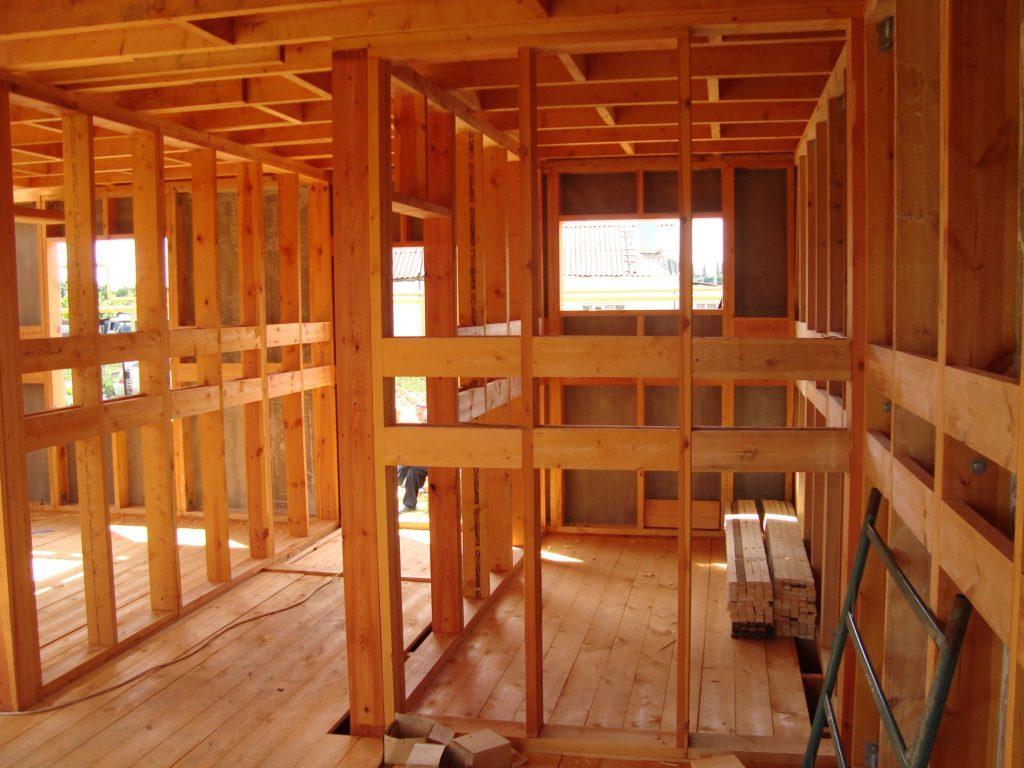 Как сделать межкомнатные перегородки в деревянном доме фото 941