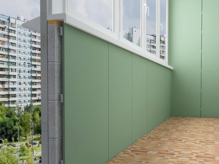 Балкон с гипсокартона