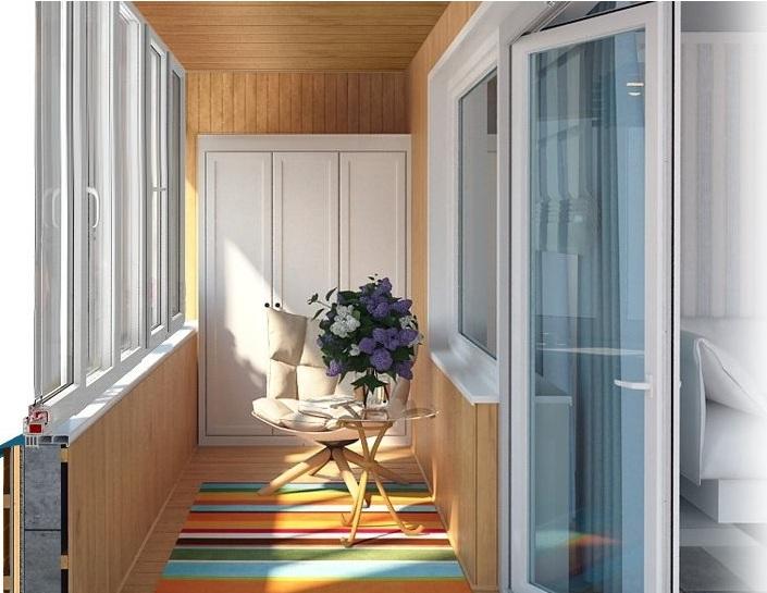 Балконная перегородка как зона отдыха