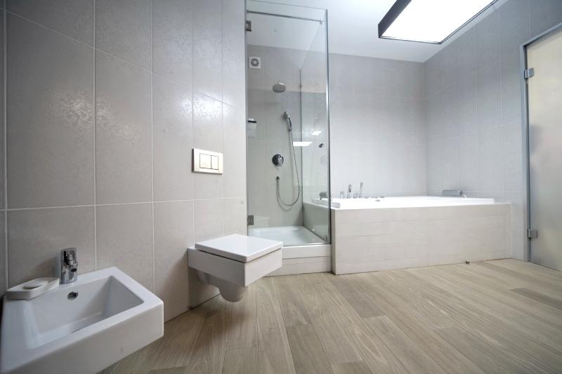 Перегородка между ванной и душевой кабиной