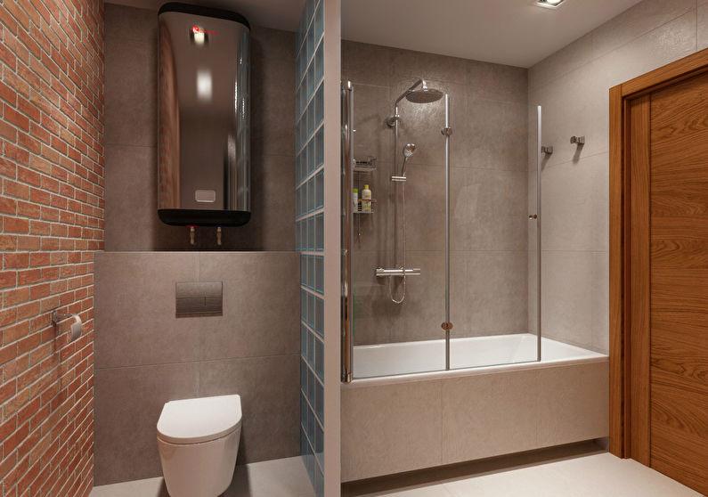 Перегородки в ванной комнате