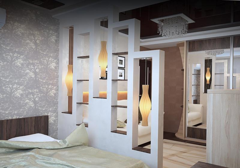 Способы зонирования комнаты: интересные дизайнерские решения