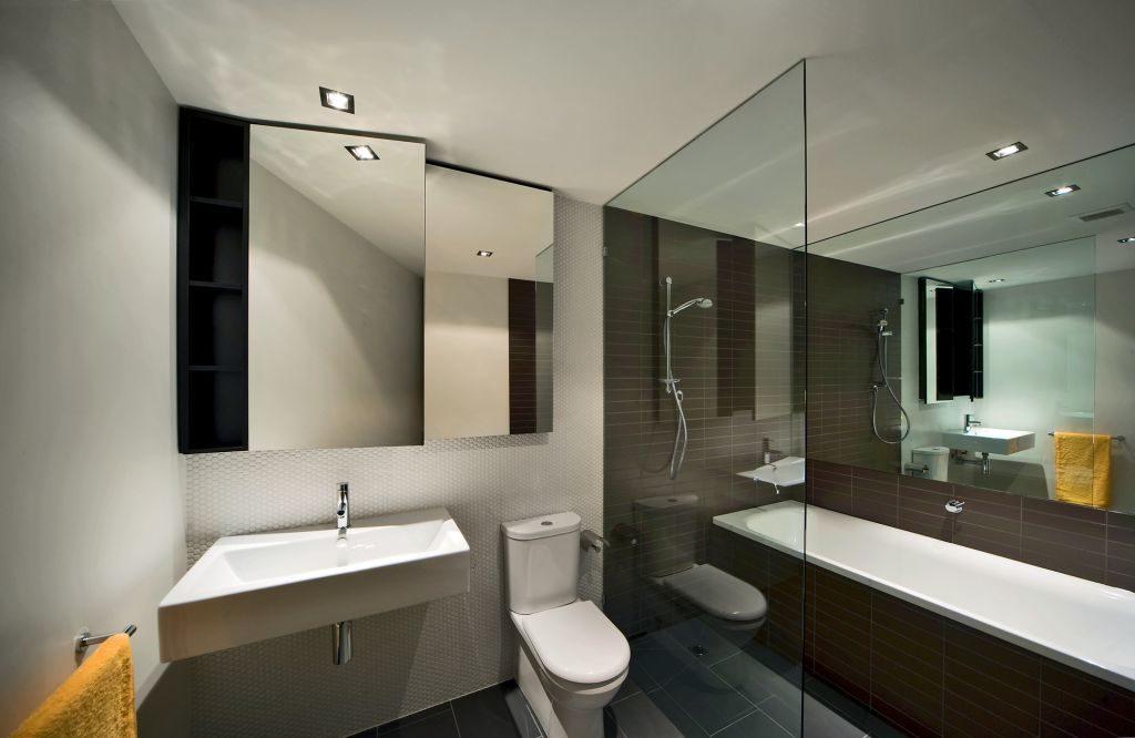 Перегородочные элементы в ванной