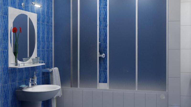 Пластиковая перегородки в ванной