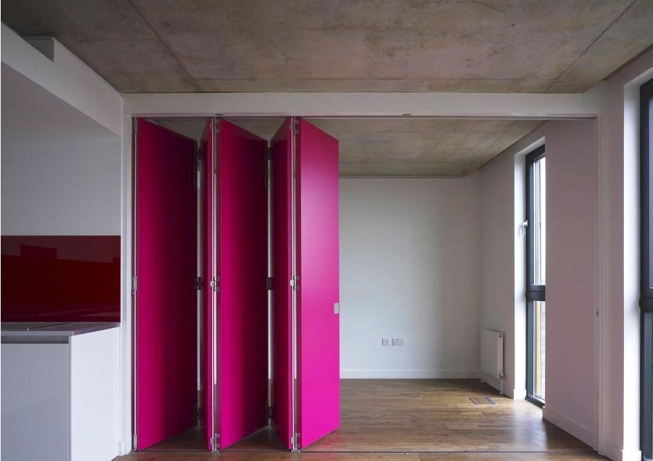 Пластиковые двери гармошки