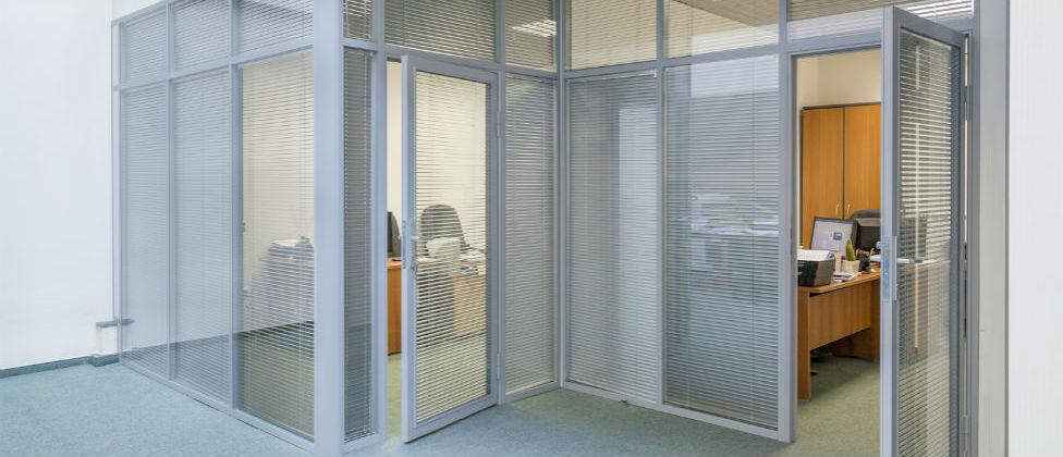 Размеры офисных перегородок из пластика