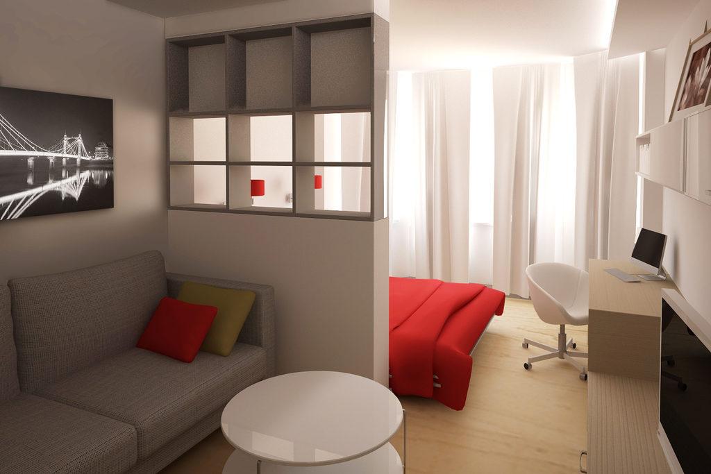 Зонирование небольшой комнаты