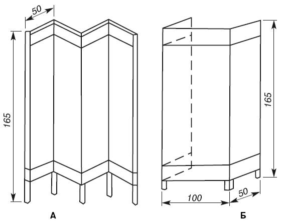 Изготовление ширмы перегородки своими руками-инструкция