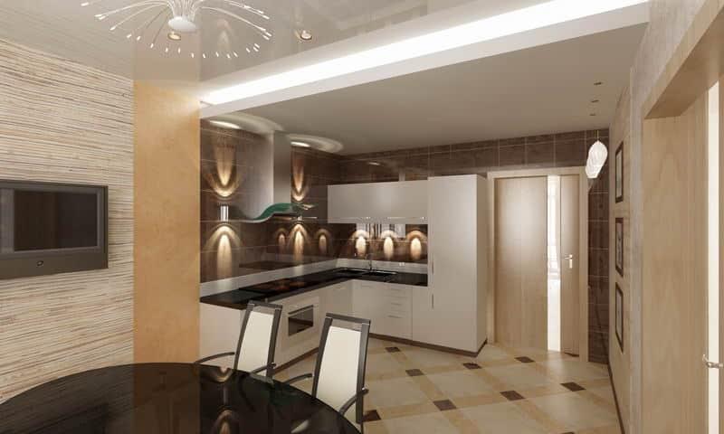 Виды перегородок для кухни и варианты отделения кухни от гостиной