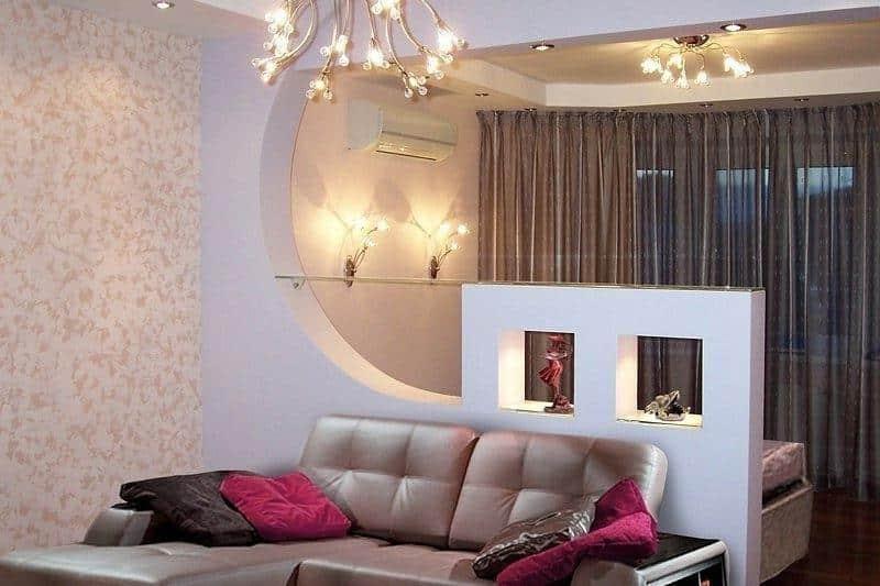Фото комнат с перегородками