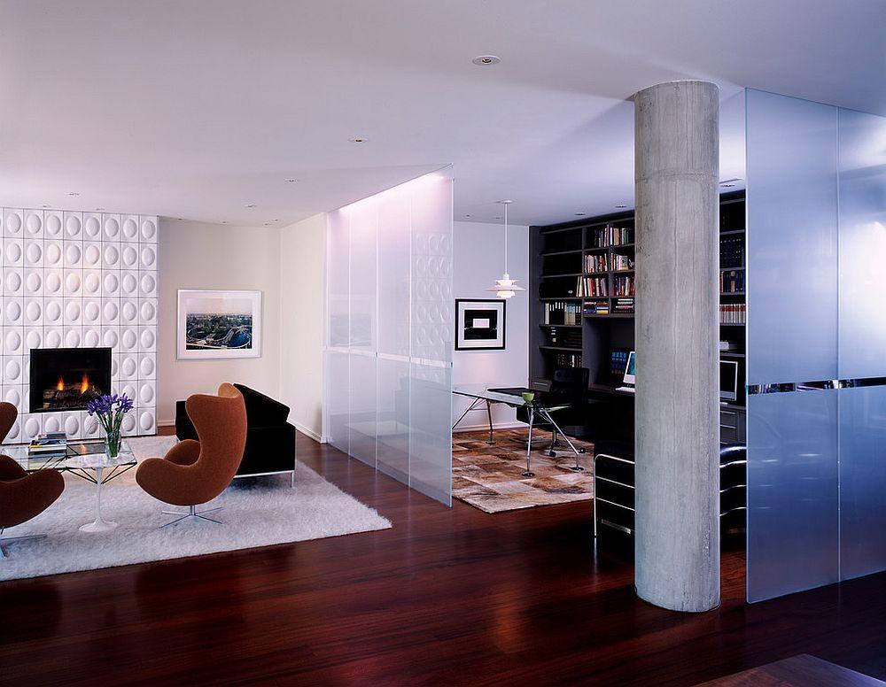 Варианты зонирования однокомнатной квартиры с помощью перегородки